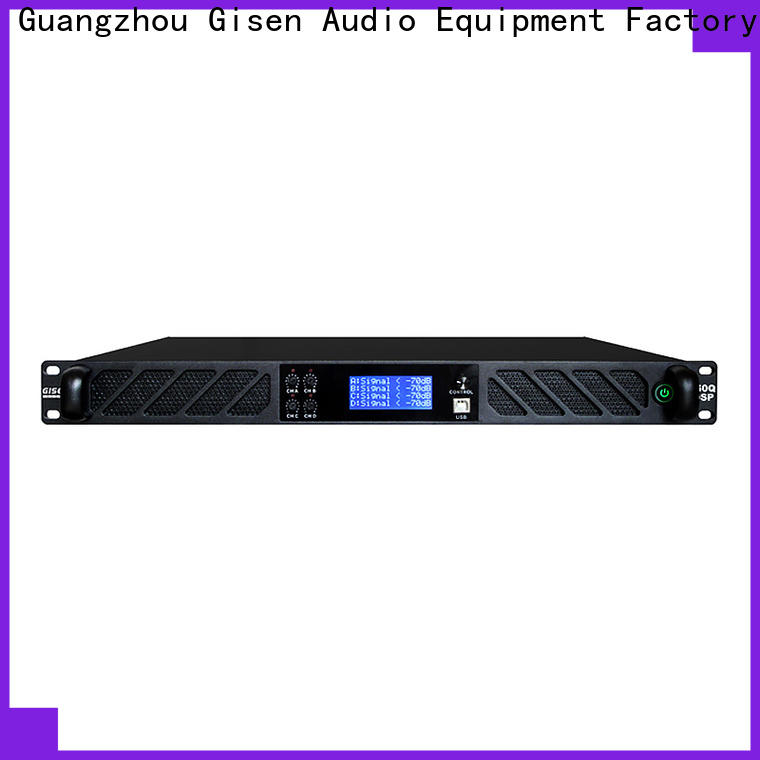 Gisen multiple functions dsp power amplifier supplier for performance