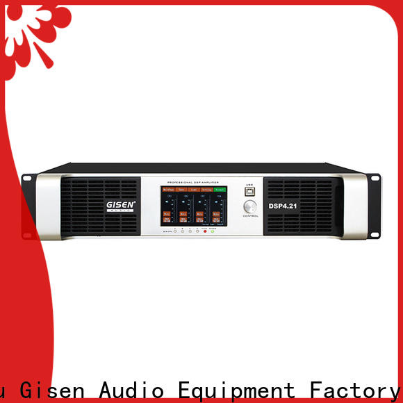 Gisen professional desktop audio amplifier supplier for venue