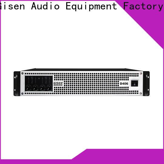 Gisen 2100wx2 best class d amplifier manufacturer for stadium